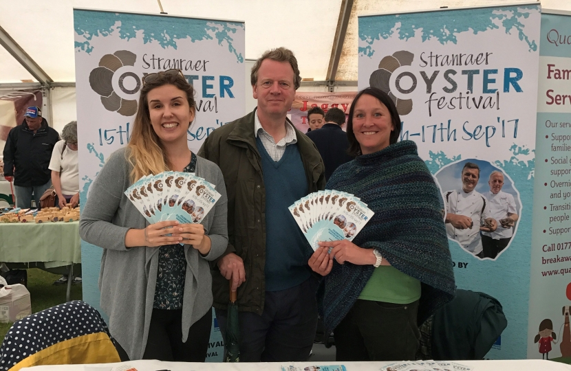 Alister Jack MP with the organisers of the Stranraer Oyster Festival