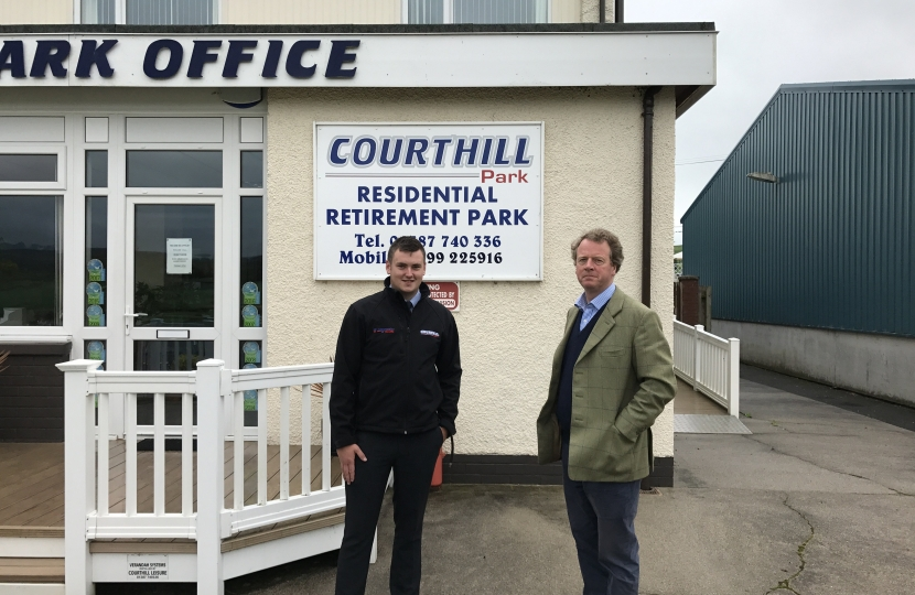 Alister Jack MP at Courhill Residential Retirement Park