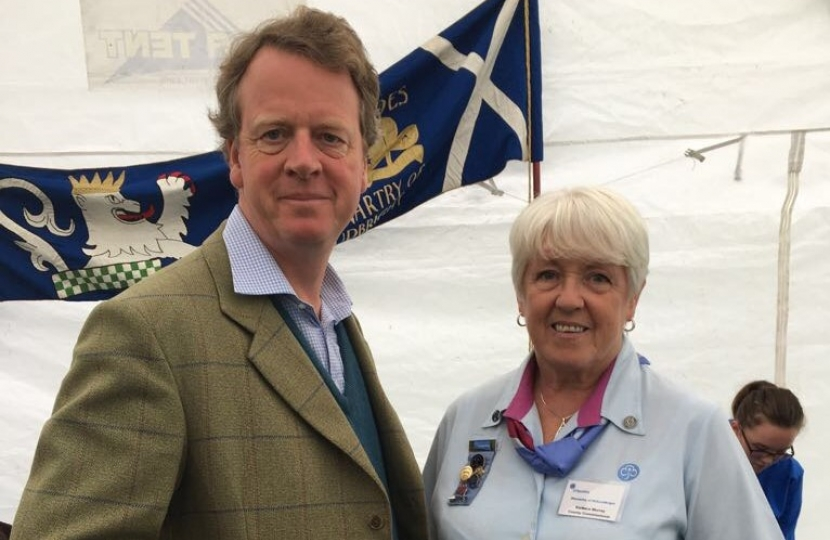 Alister Jack MP and Stewartry Girlguiding County Commissioner Mrs Barbara Murray