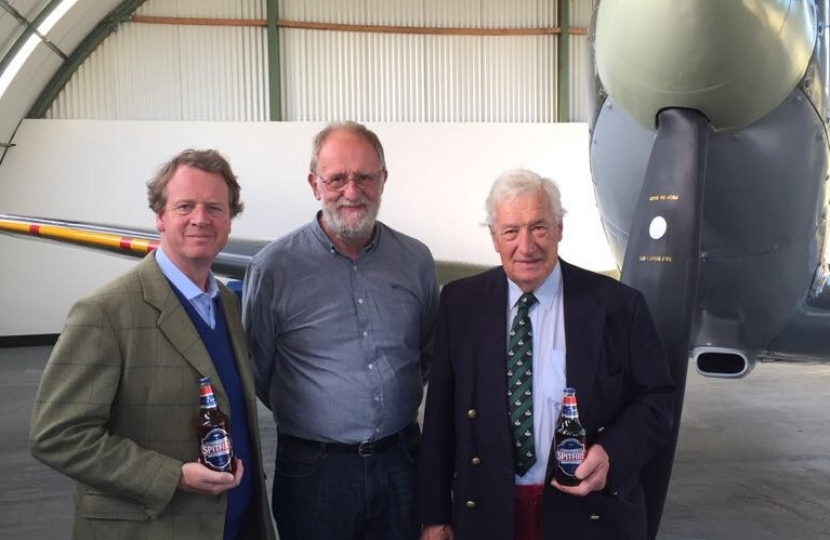 Alister Jack MP and Cllr John Charteris MC MBE at Dumfries Aviation Museum