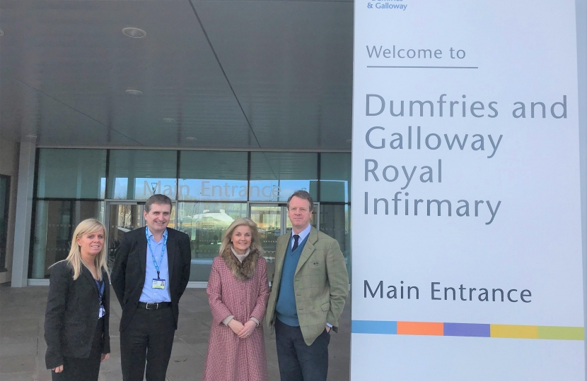 Alister and Ann Jack at the new DGRI in Dumfries