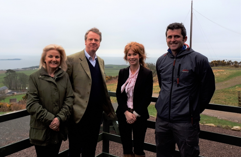 Alister Jack MP with Duncan and Vicki McConchie at Laggan Outdoor