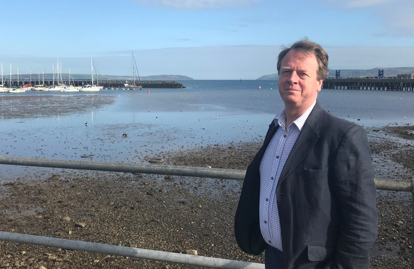 Alister Jack MP at Stranraer Waterfront