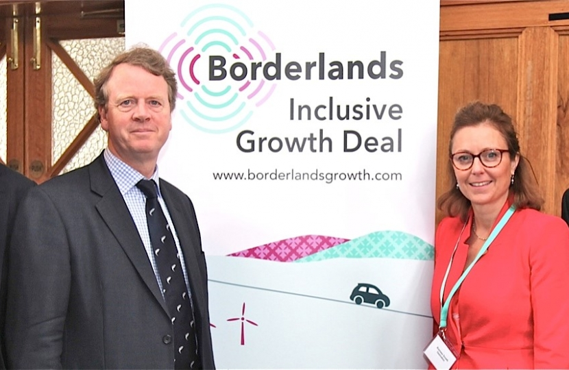 Alister Jack MP with local MSPs, Oliver Mundell and Rachael Hamilton, and John Stevenson MP at the Borderlands Conference in Dumfries